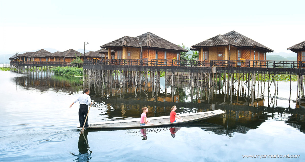 A beautiful boat trip to floating villages on Inle Lake