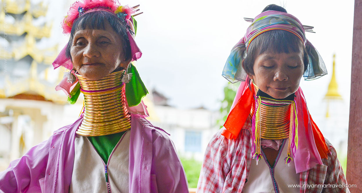 Long neck Paduang women inle lake myanmar