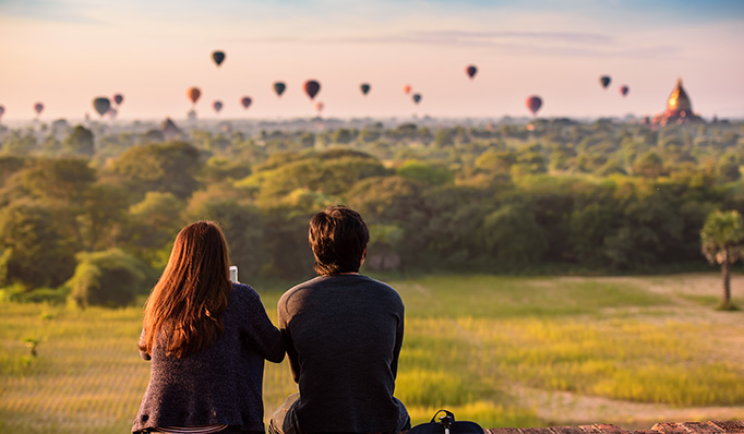 Myanmar is new destination for honeymooners thanks to breathtaking ancient wonders and stunning nature.