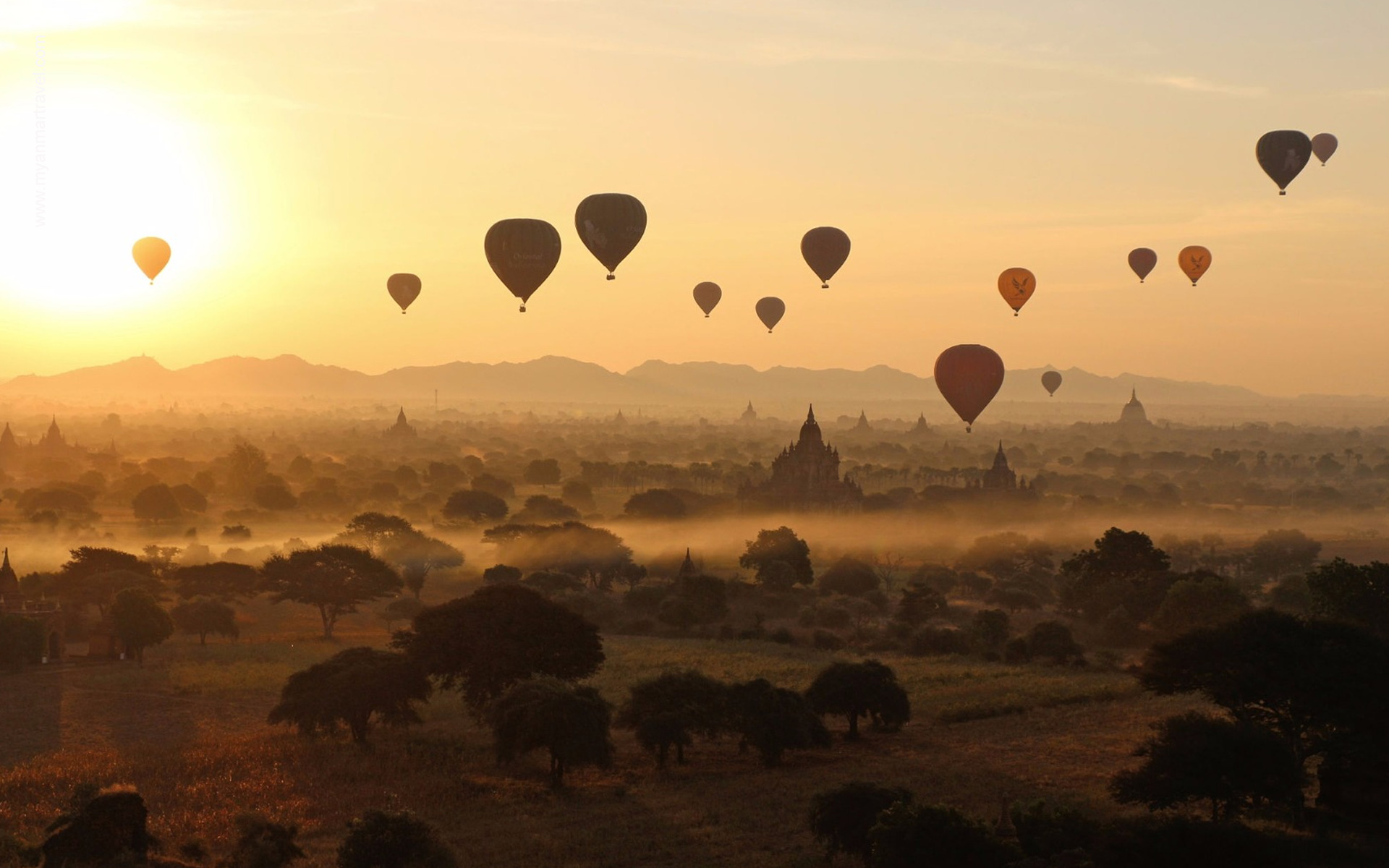 hot balloon air in Bagan 9