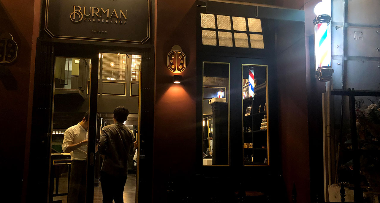 Burman Barber shop in yangon