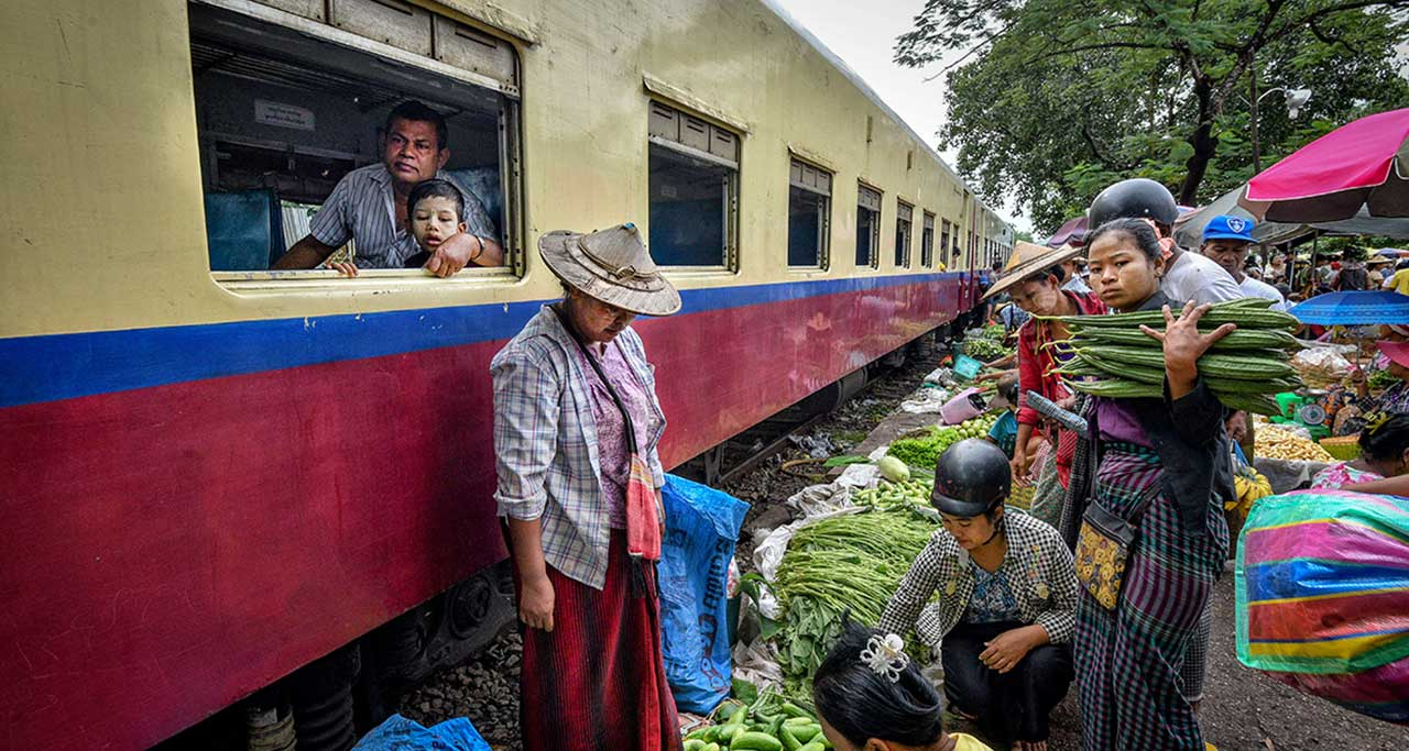 Ride Yangon circular train