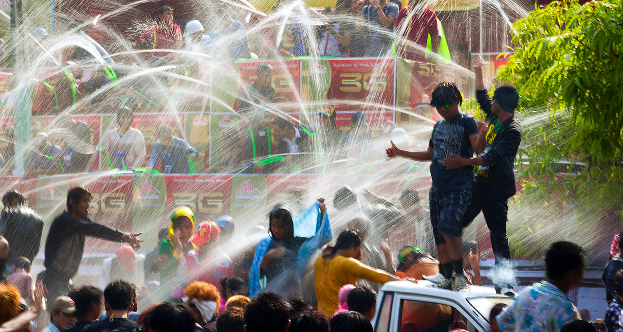 image of Myanmar Water Festival