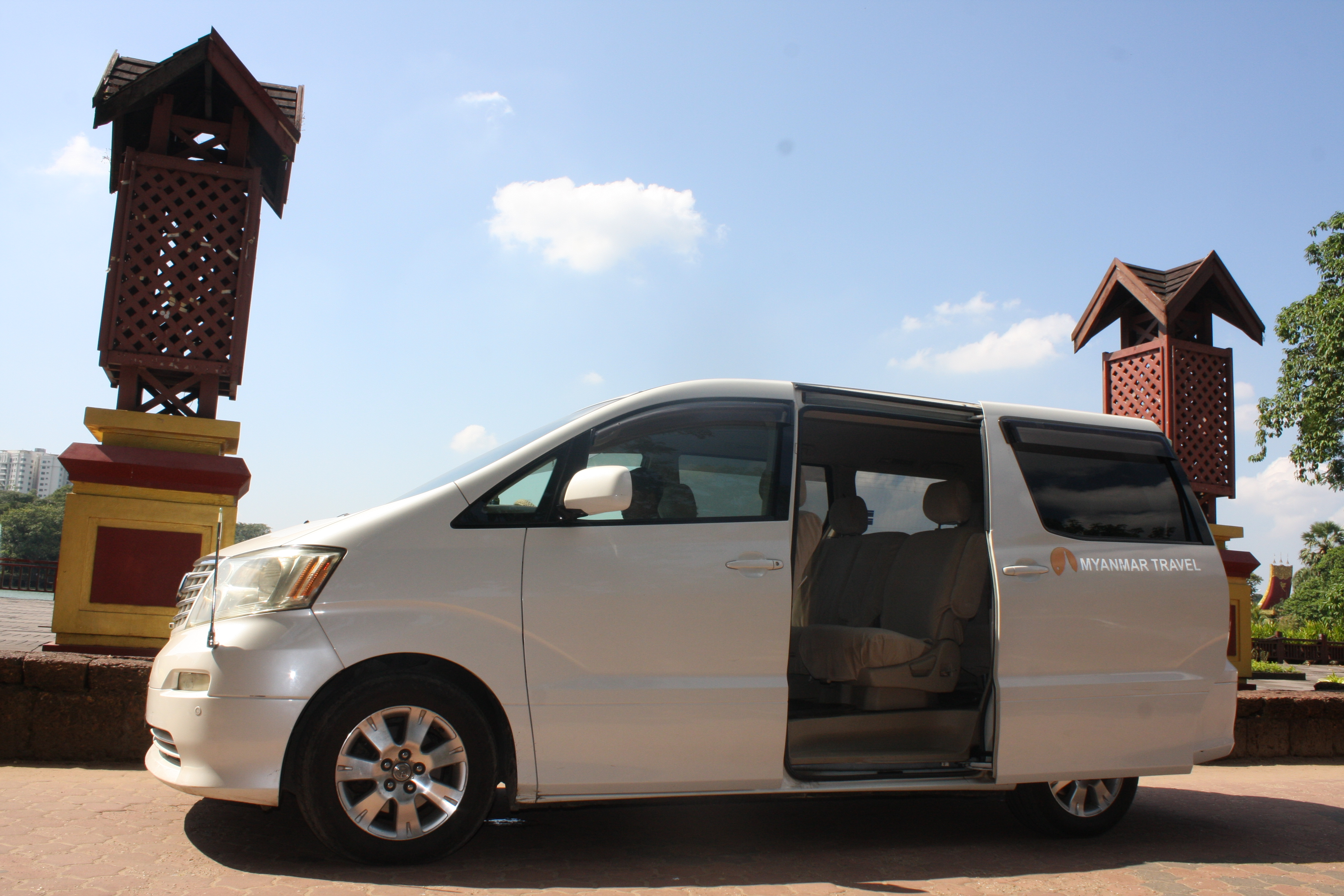 Traveling to Yangon downtown by private car offered by Myanmar Travel