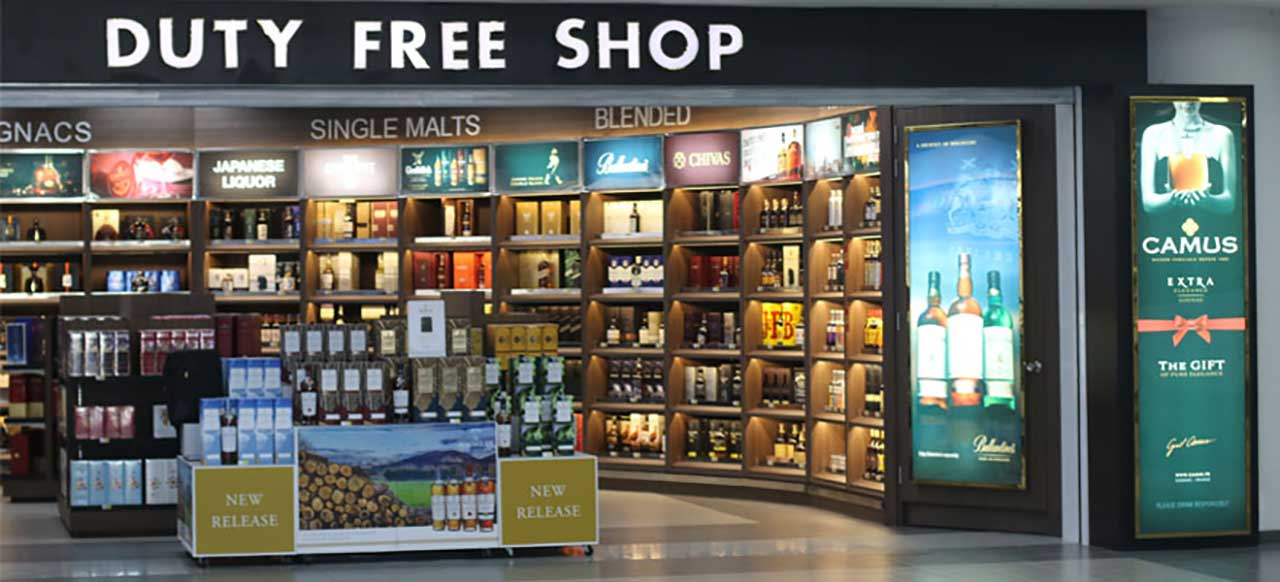 There are many duty free shops at Terminal 1 selling different kinds of products