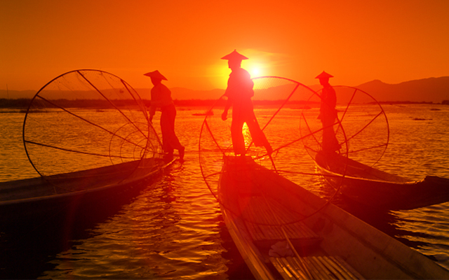 Nightlife in Inle Lake