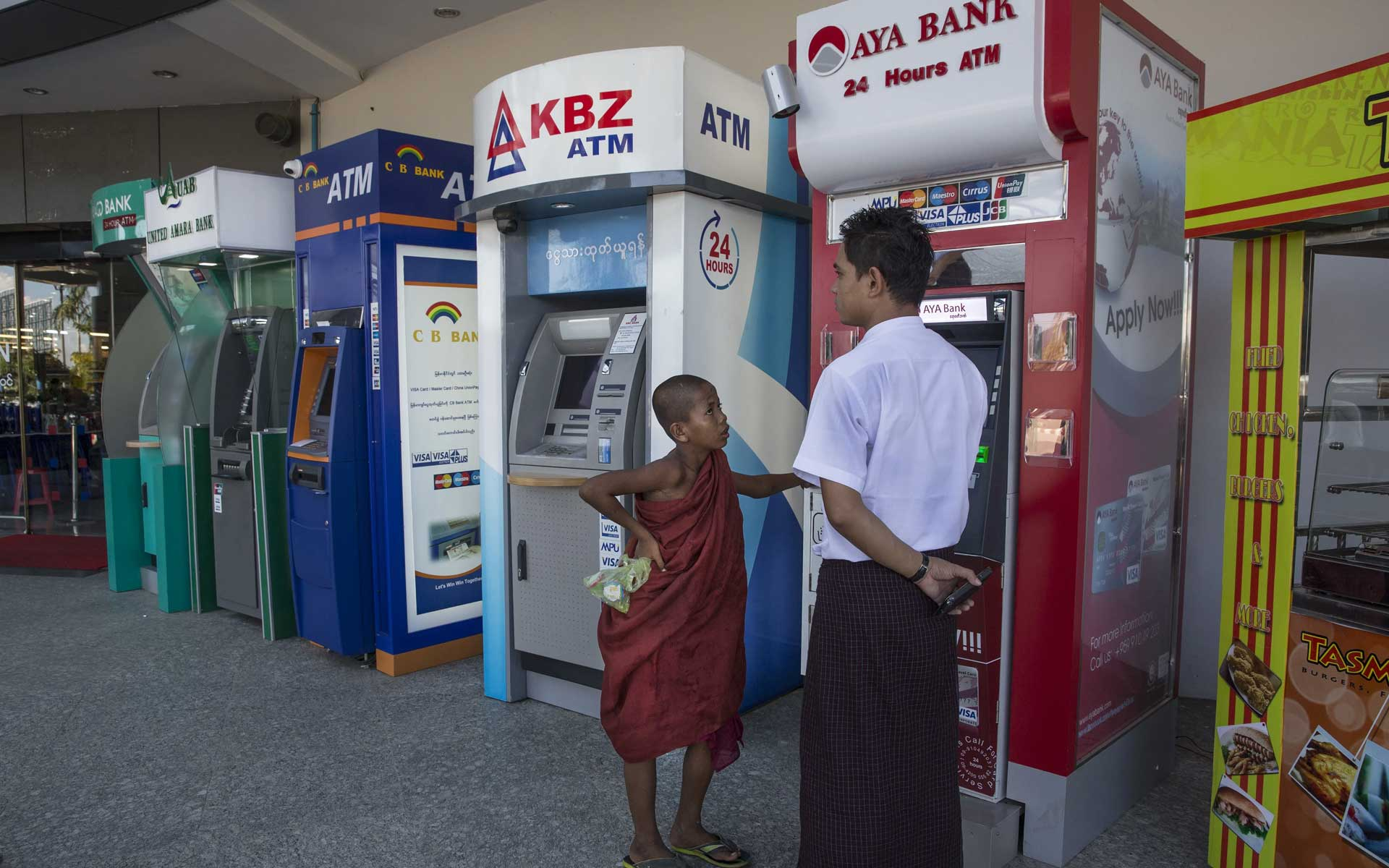 Money situation is much easier than before thanks to ATMs' network
