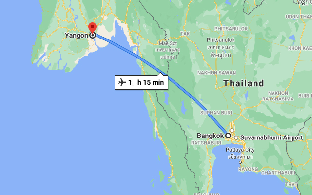 How to get from Bangkok to Yangon