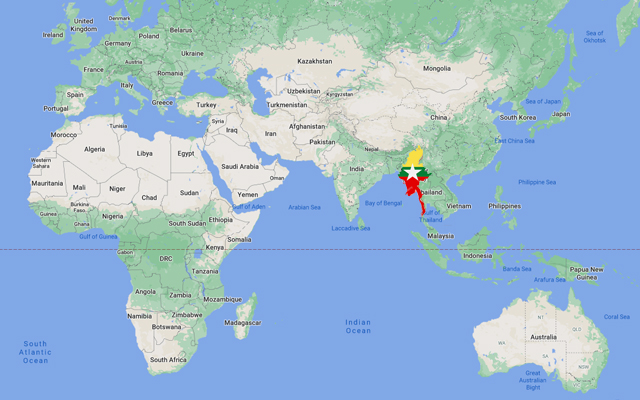 Where is Myanmar located?
