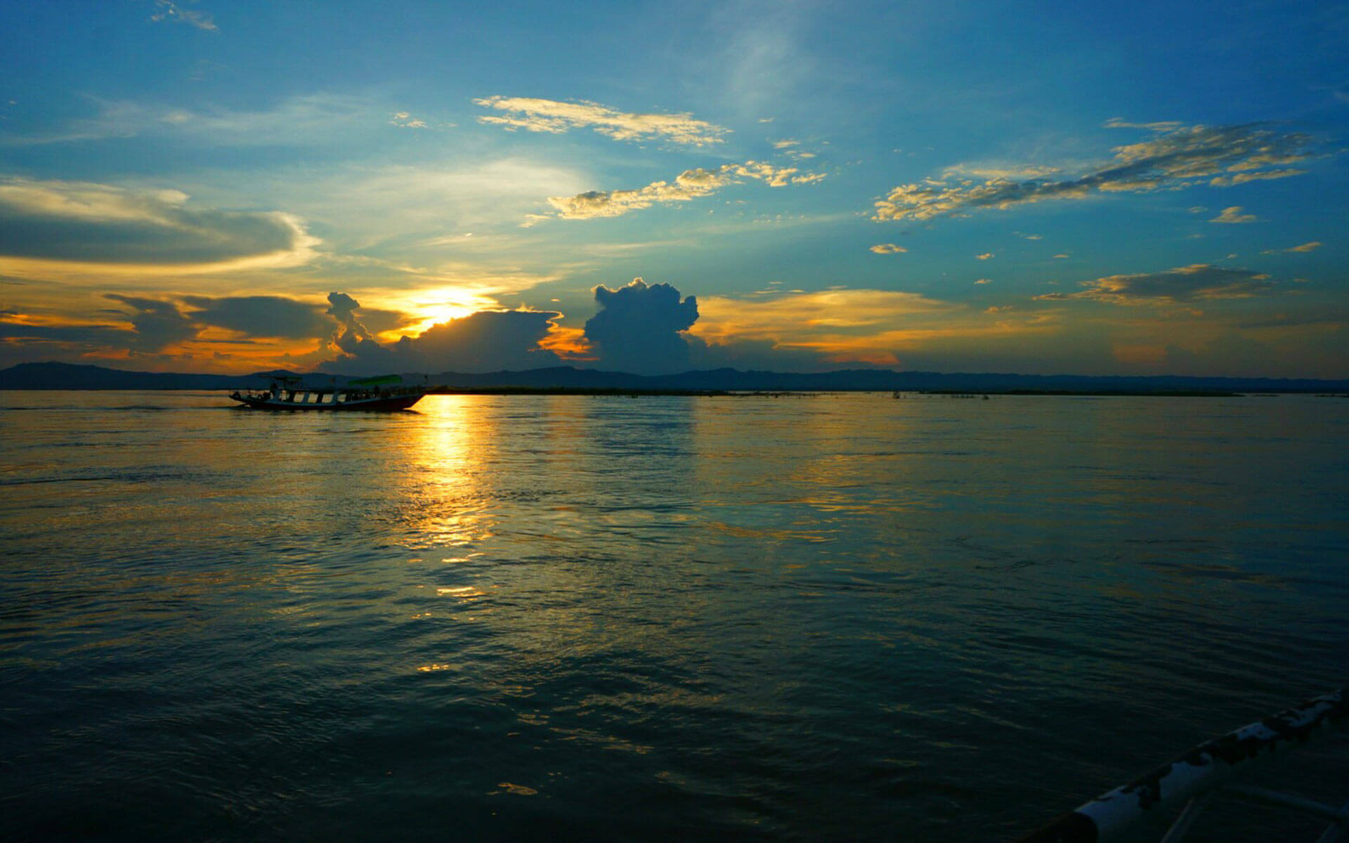 sunset in Irrawaddy