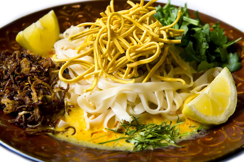 Noodle is the second most popular food in Mandalay.