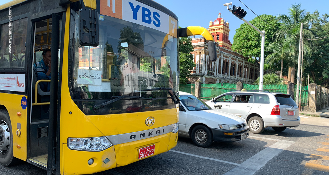 YBS, a new and modern bus system in Yangon city