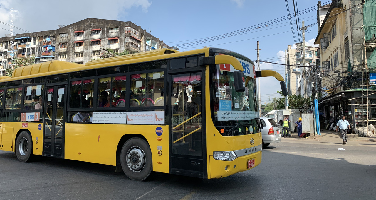 YBS – the new city bus system now becomes the main transportation for local people.