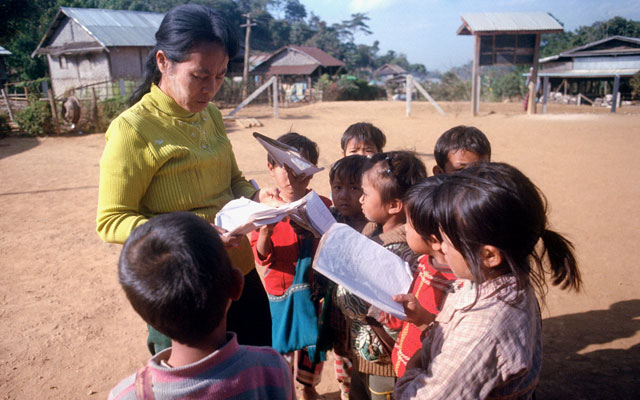 Which language is spoken in Myanmar?